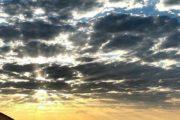 Coucher de soleil au nord de l'Iran