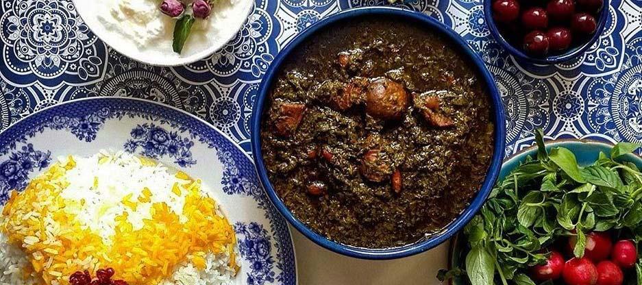 AP. Food and Drinks in Iran Ghorme Sabzi